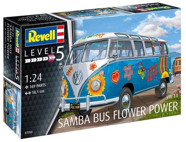 Revell VW T1 samba bus flower power model kit